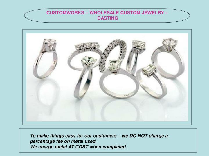 CUSTOMWORKS – WHOLESALE CUSTOM JEWELRY – CASTING
