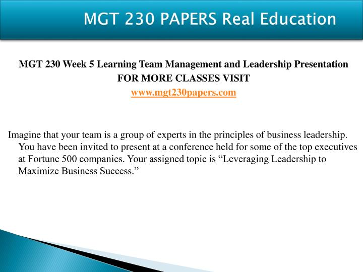 mgt 230 week 4 learning team reflection summary Description mgt 465 week 5 business plan summary mgt 465 week 5 business plan summary resources: week 2-5 learning team assignment instructions, week 2 business venture preparation assignment, week 3 executive summary assignment, and week 4 financials and human resources planning assignment.