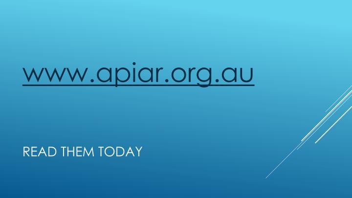 www.apiar.org.au
