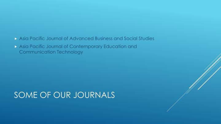 Asia Pacific Journal of Advanced Business and Social