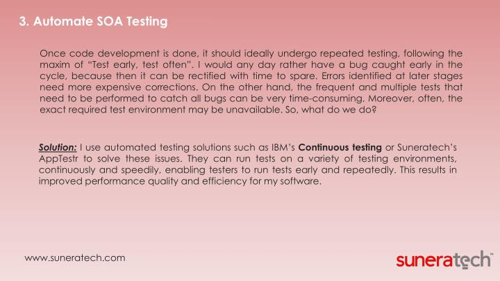 3. Automate SOA Testing