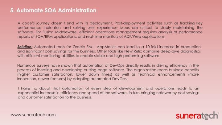 5. Automate SOA Administration