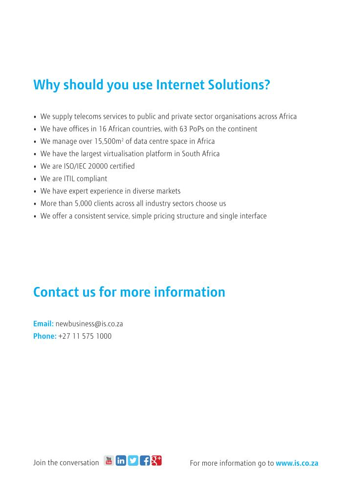 Why should you use Internet Solutions?