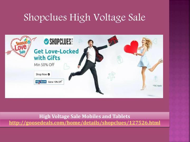 Shopclues High Voltage Sale
