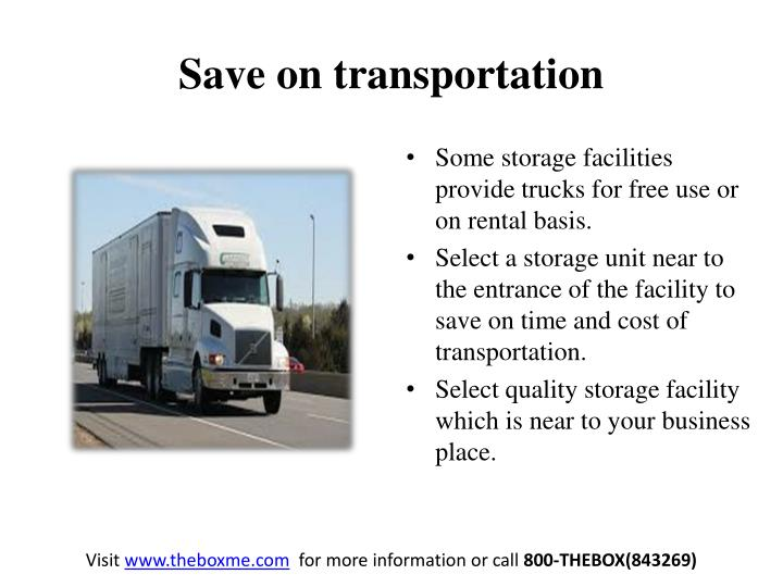 Save on transportation