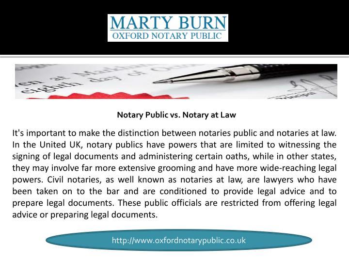 Notary Public vs. Notary at Law