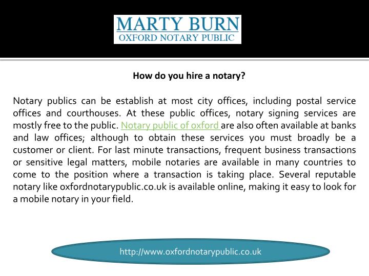 How do you hire a notary?