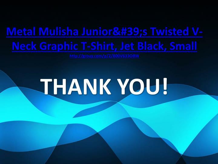 Metal Mulisha Junior's Twisted V-Neck Graphic T-Shirt, Jet Black, Small