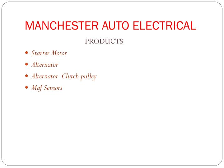 MANCHESTER AUTO ELECTRICAL