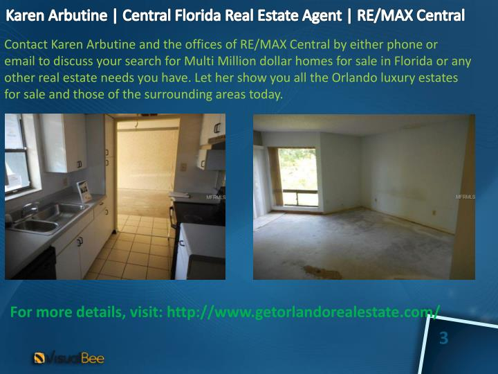 Karen arbutine central florida real estate agent re max central