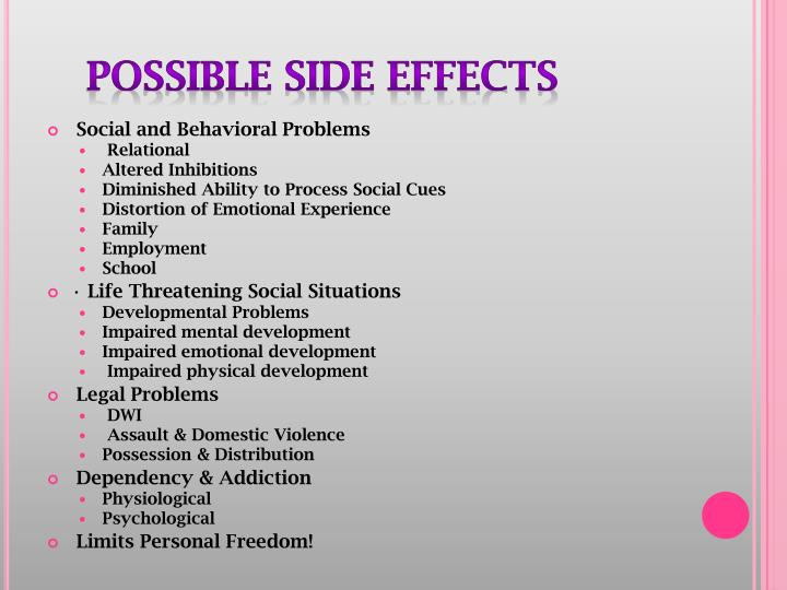 Possible Side Effects