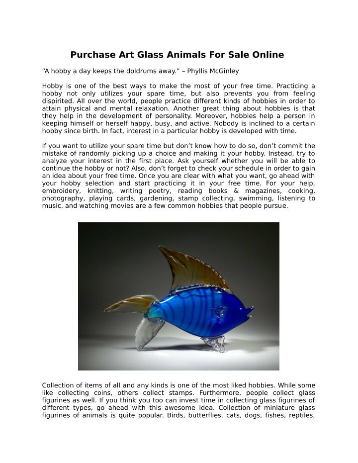 Purchase Art Glass Animals For Sale Online