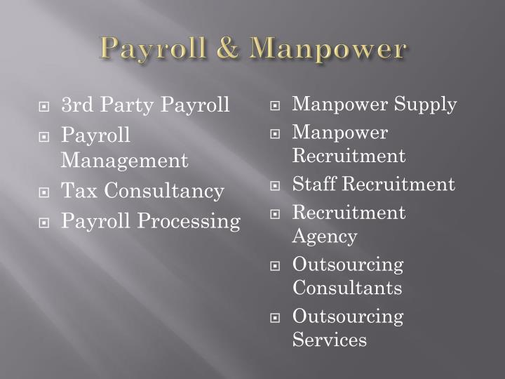 Payroll & Manpower