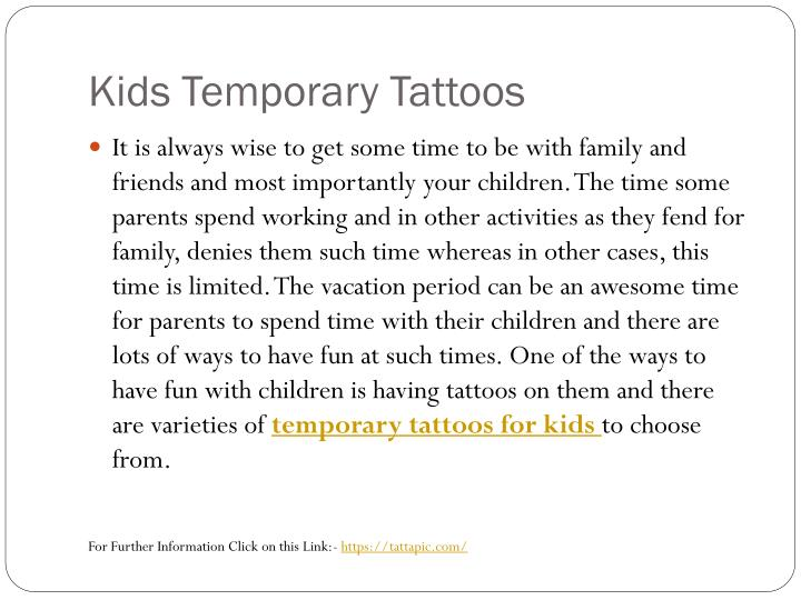 Kids Temporary Tattoos