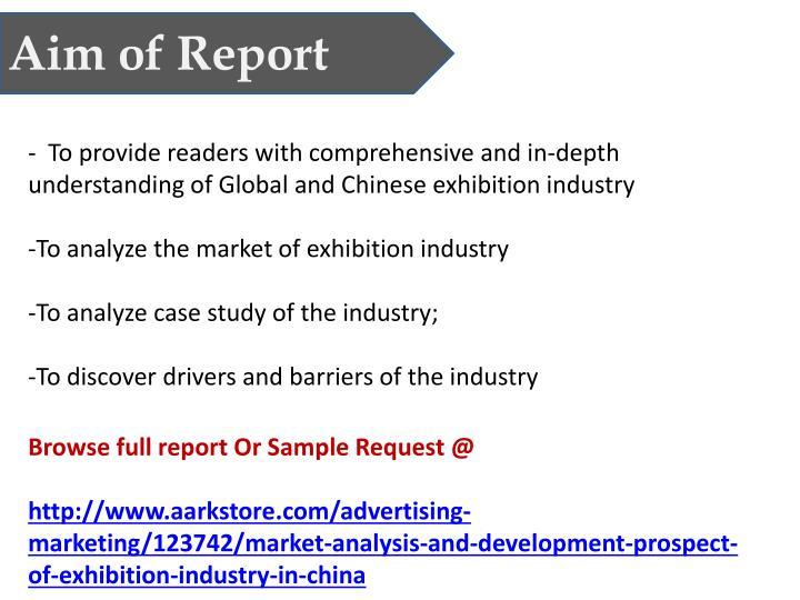 Aim of Report