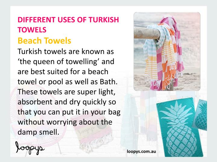 DIFFERENT USES OF TURKISH TOWELS