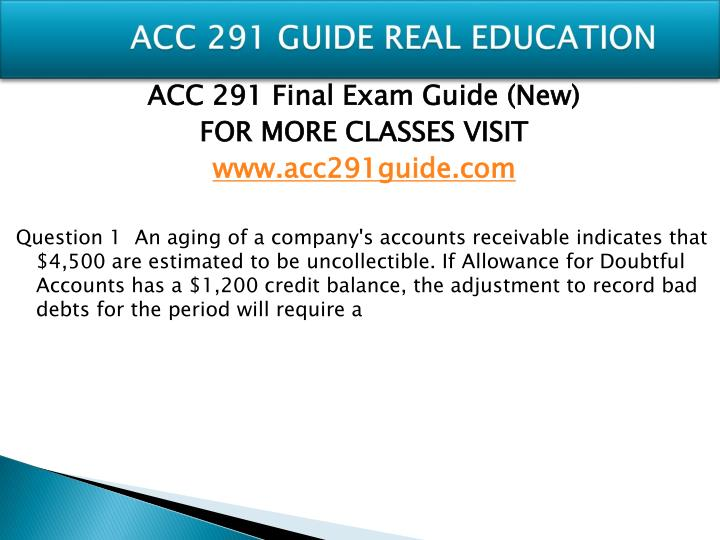 Acc 291 guide real education