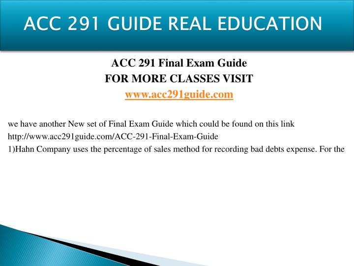 Acc 291 guide real education1