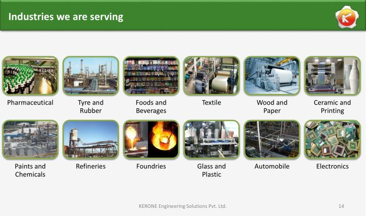 Industries we are serving