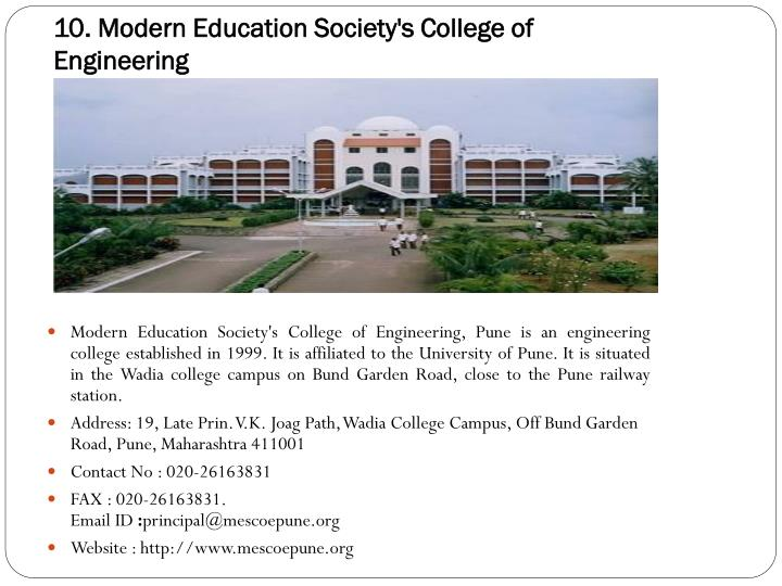 10. Modern Education Society's College of Engineering