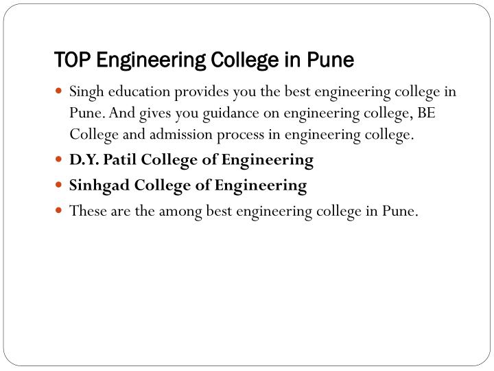TOP Engineering College in Pune
