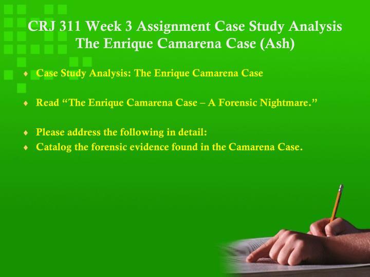 Write my forensics case study