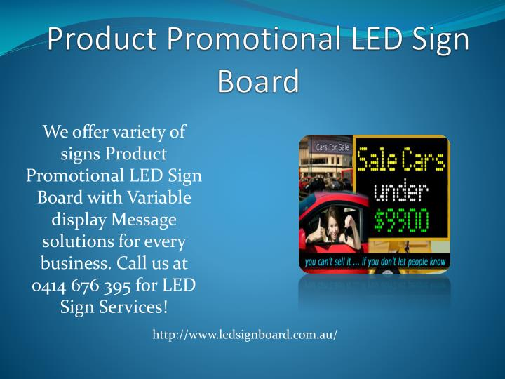 Product Promotional LED Sign Board
