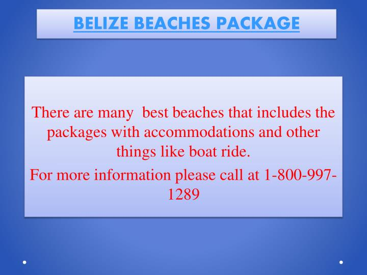 Belize beaches package