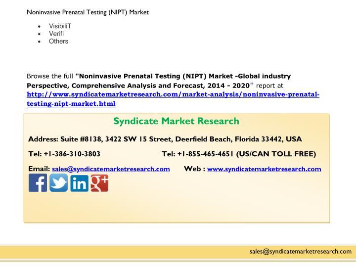 Noninvasive Prenatal Testing (NIPT) Market