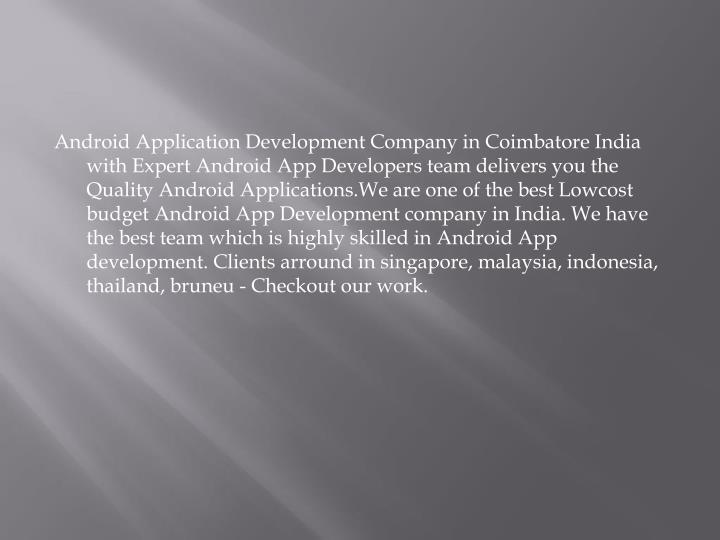 android application developers in coimbatore
