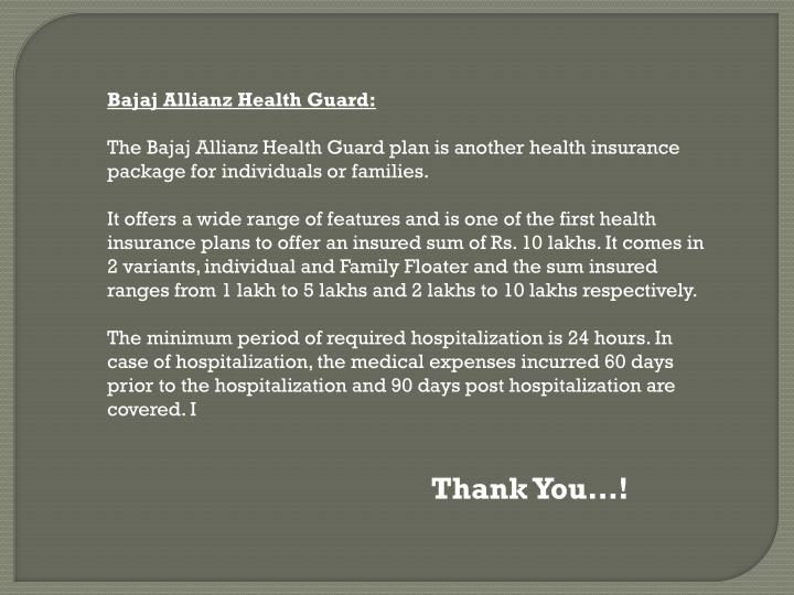 Bajaj Allianz Health Guard