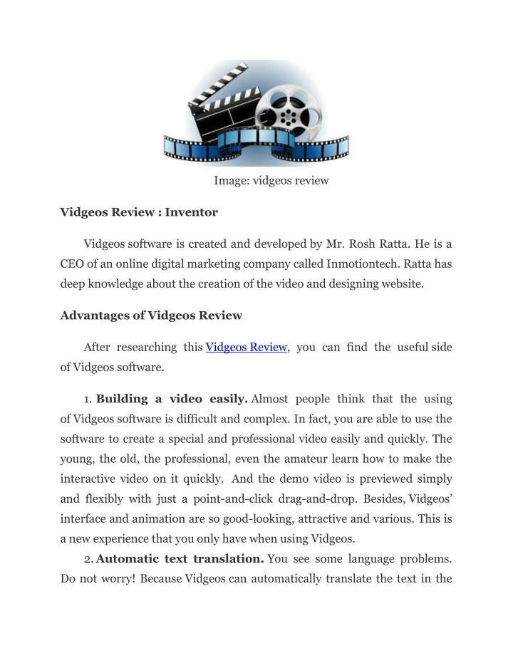 Image: vidgeos review
