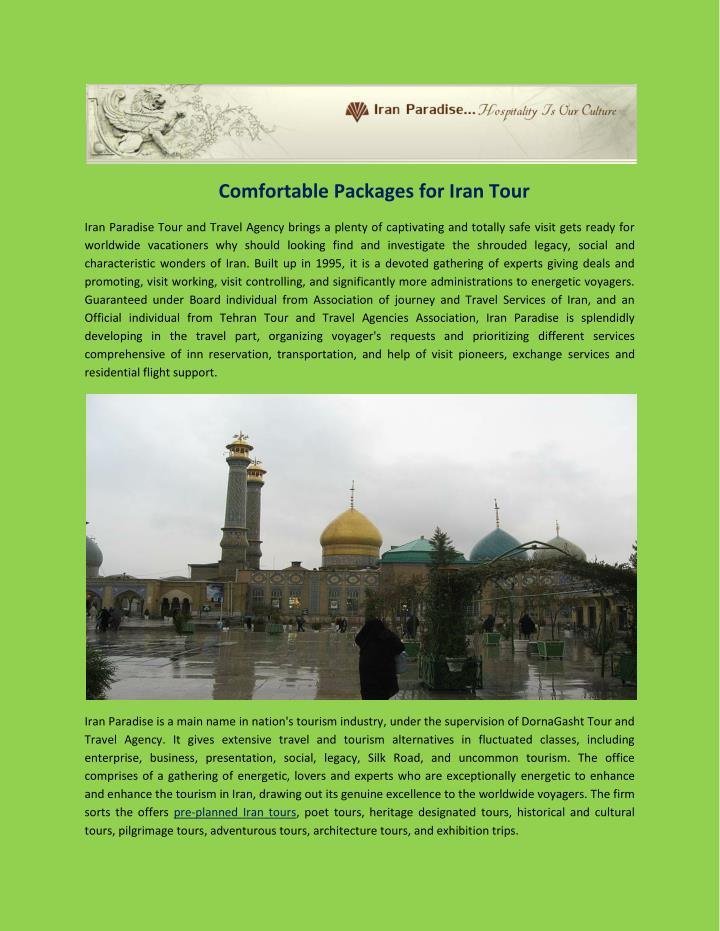 Comfortable Packages for Iran Tour