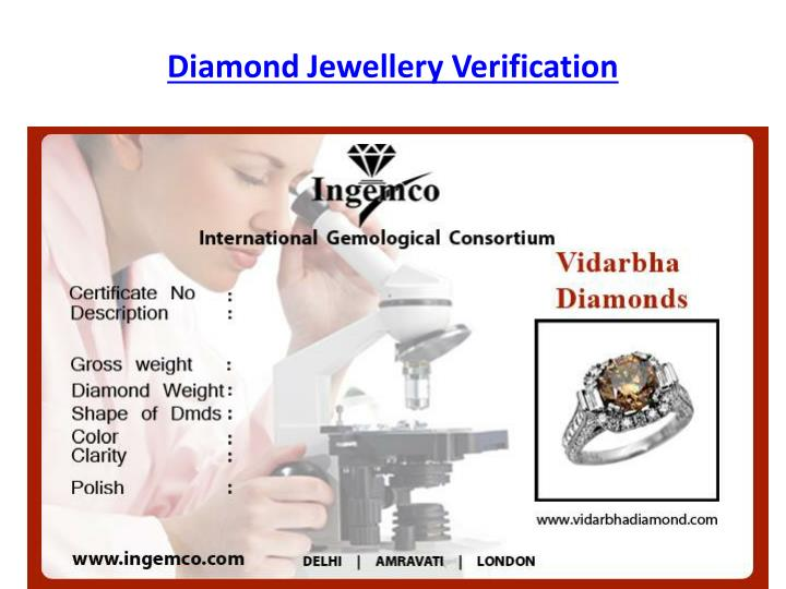 Diamond Jewellery Verification