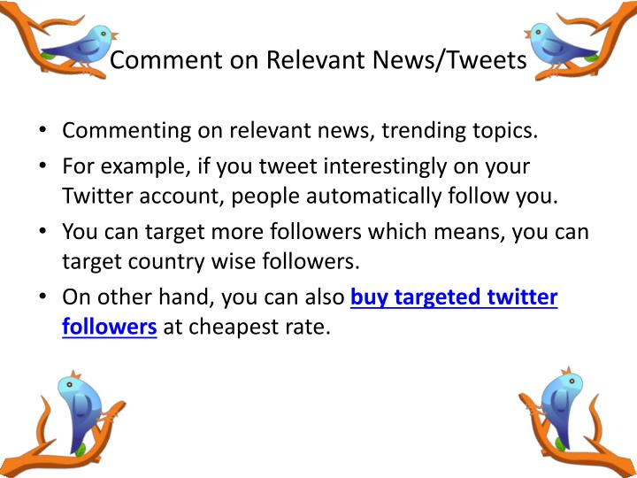 Comment on Relevant News/Tweets