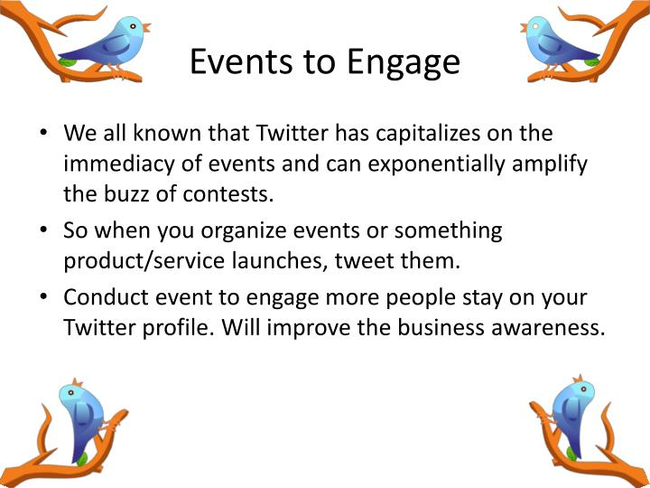 Events to Engage