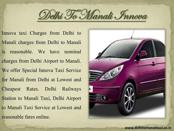 Delhi To Manali Innova