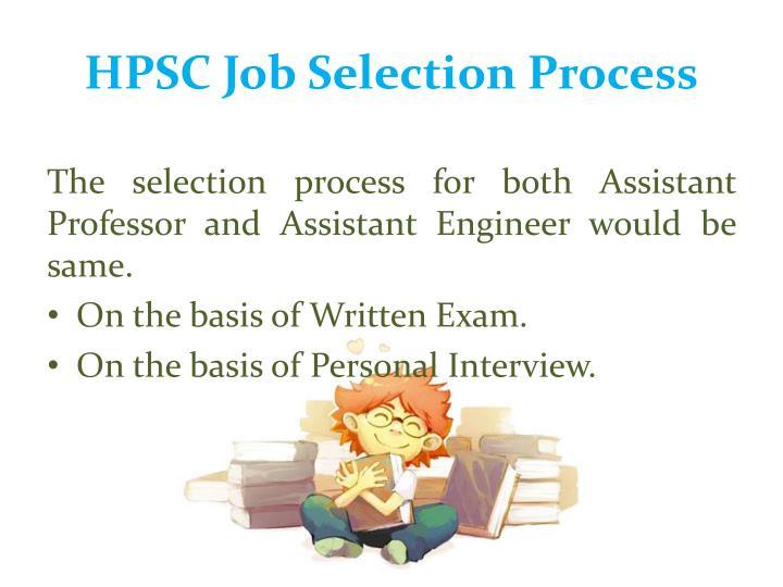 HPSC Job Selection Process