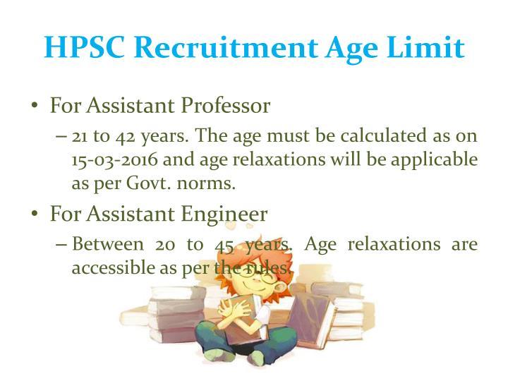 HPSC Recruitment Age Limit