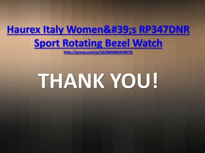 Haurex Italy Women's RP347DNR Sport Rotating Bezel Watch