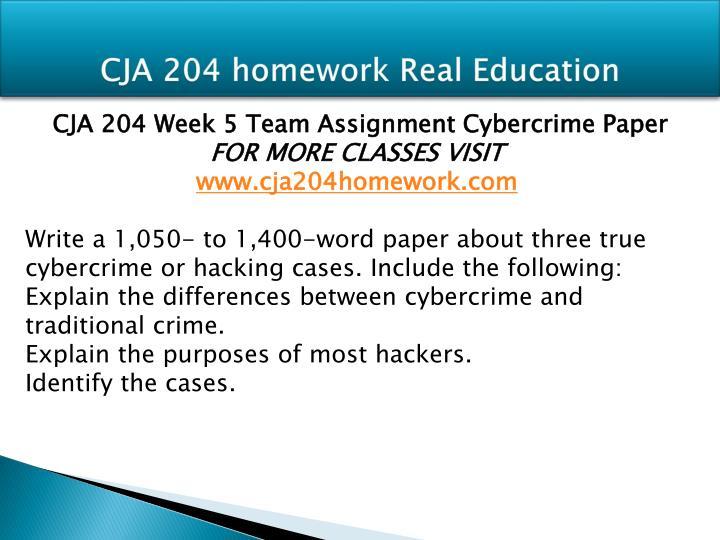 CJA 204 homework Real Education