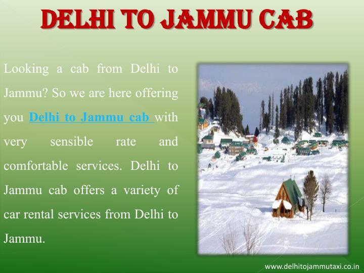 Delhi To Jammu Cab