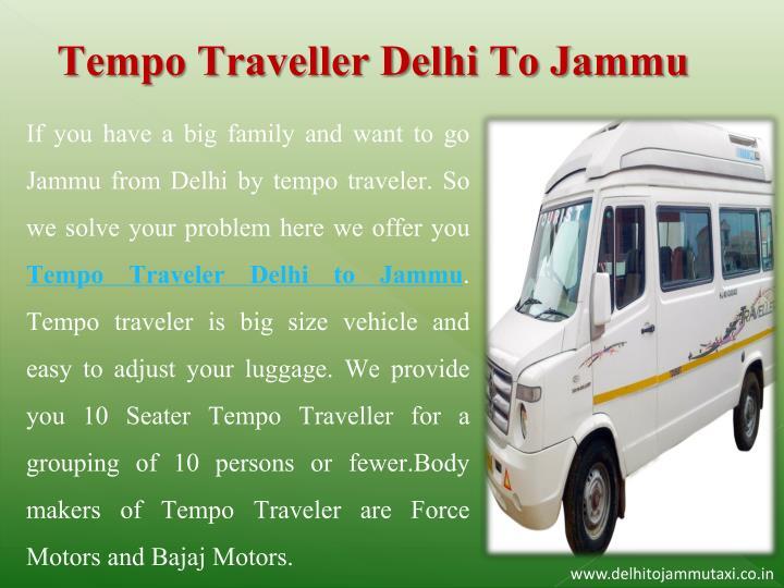 Tempo Traveller Delhi To Jammu