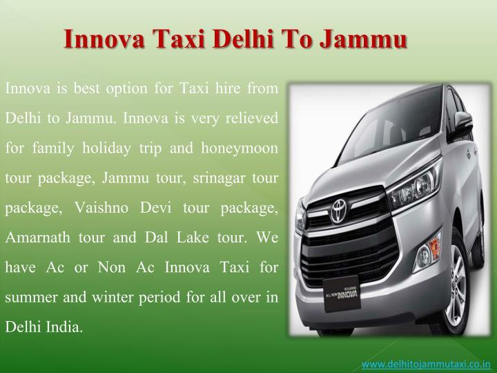 Innova Taxi Delhi To Jammu