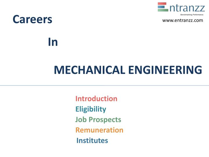 Careers in mechanical engineering