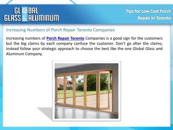 Increasing Numbers of Porch Repair Toronto Companies