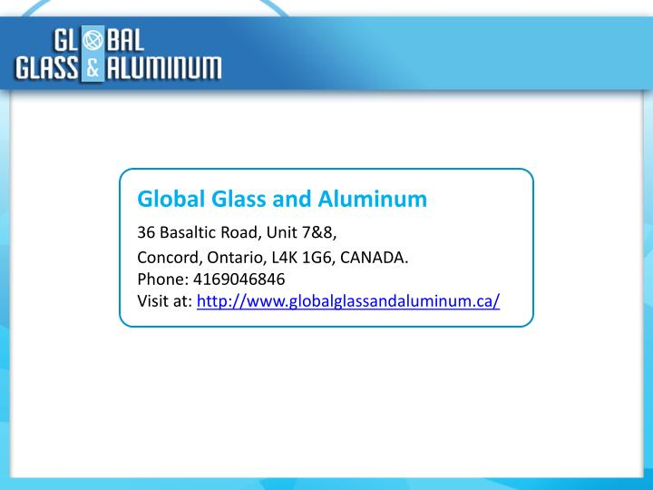Global Glass and Aluminum