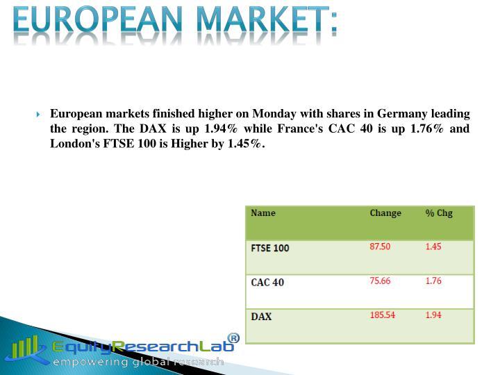 EUROPEAN MARKET: