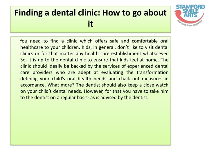 Finding a dental clinic how to go about it
