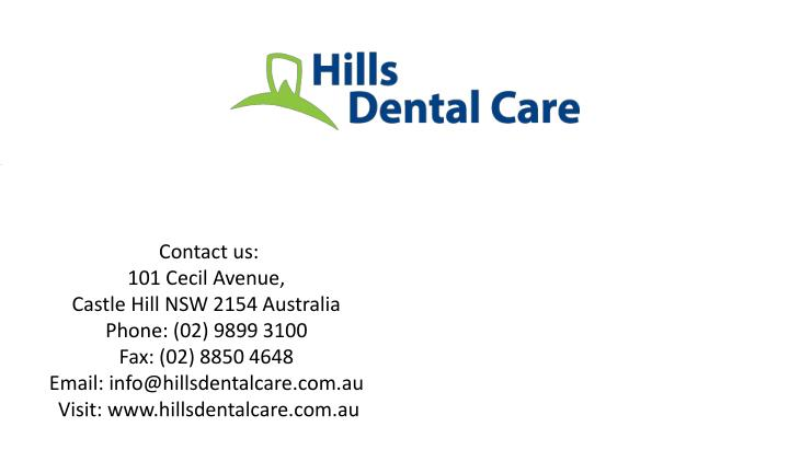 Book an appointment with Hills Dental Care Today.